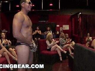 DANCING BEAR - Horny Women Going Crazy For Male Stripper Dick!