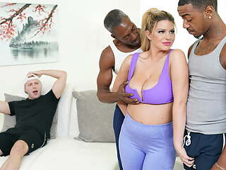 Busty MILF Brooklyn Chase Does Anal And DP with BBCs