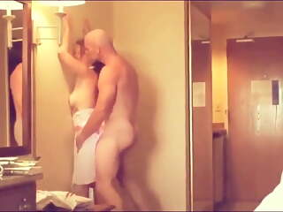 Hotwife brings guy back to hotel room