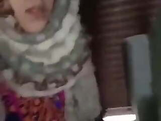 Pretty hijabi muslim girl giving blowjob