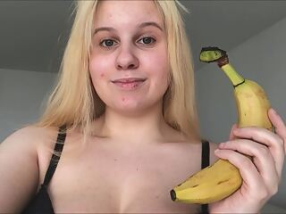 ANAL BANANA!!!  NO CUCUMBER! IT'S A BANANA FOR MY ASS! :)