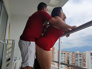 Kathalina777 has a delicious anal fuck on the balcony