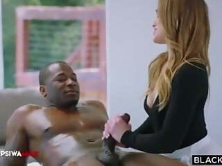 FEMALE MASSEUSE IS RAMMED HARD BY BIG BLACK COCK
