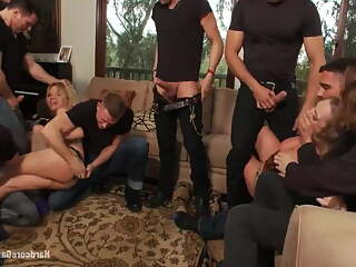 Vicky and Andrea in Hardcore Gangbang