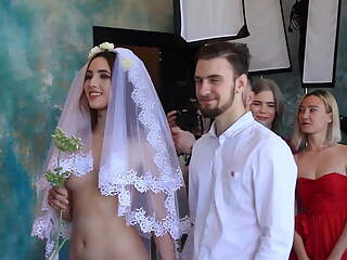 Naked bride at wedding
