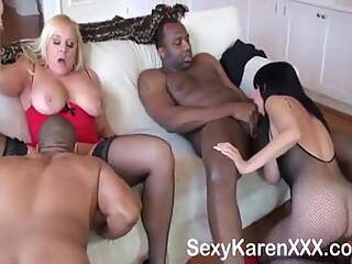Black fun with cougars - Karen Fisher is a Cougar with Big Tits