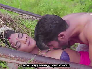 Desi village sarpanch wife fucked in crop fields and balcony