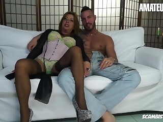 AmateurEuro - Mature Italian Slut Drilled By Young Stud