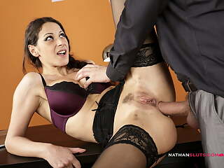 Hot Secretary's BUTT DESTROYED By Big Dick Boss
