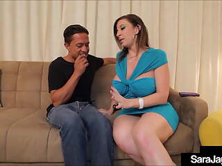 PAWG Penis Pleasing Sara Jay Blows & Bangs A Lucky Big Cock!