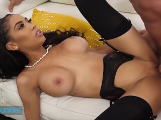 Reality Junkies - Ebony Wife Gia Milana Just Wished That Her Husband Had Such A Big Cock