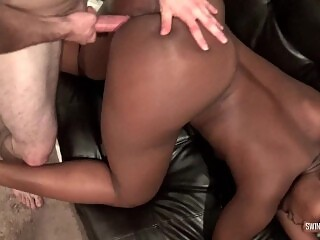 Hot ass amateur swinger cunt banged from behind