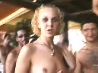 Kelly Stafford, Sexy Luna fucked by a group of Horny stallions