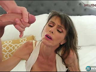 Facial compilation - Granny gets plastered with jizz #1