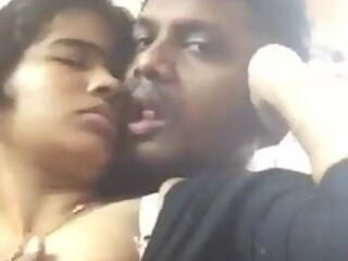 Tamil girl enjoying sex with Tamil boy in the office