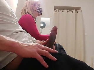 OMG!! He pulls his cock out in the dentist waiting room..