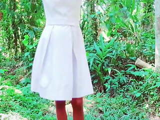 Sri Lankan School girl sex fun and shower in forest