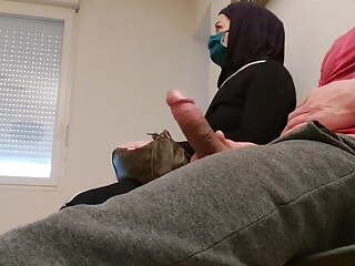 I pull out my cock in waiting room in front of her...