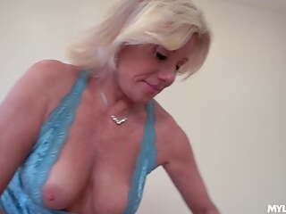 Birthday gifts of a gorgeous blonde MILF
