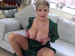 Horny MILF Lady Sonia loves when you wank to her
