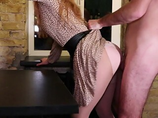 Calling elite escort babe. Hot redhead fucked hard in ripped tights