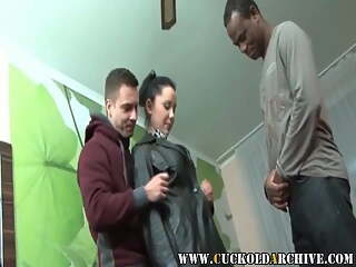 Cuckold Archive - Newly wed couple's first threesome