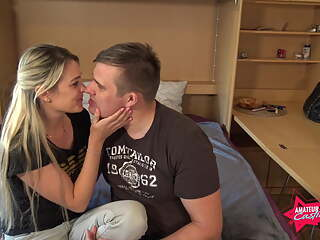 Austrian young couple has first sex with creampie!!
