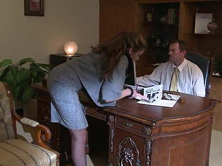 Gorgeous business woman is very demanding