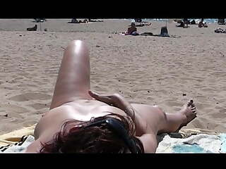 Lleemee: Beach Show Masturbation (1)  -Man watching-