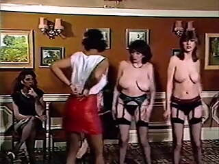 DISCO TITS - vintage 80's British busty girl strip dancing