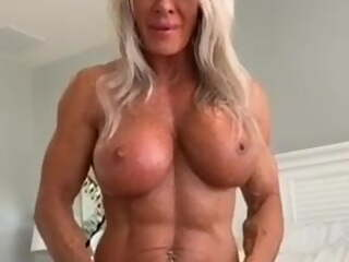 Fit Milf With Big Clit Rides Dildo