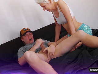 Justin cums in his mouth in front of his wife!