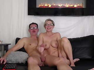 Sexy couple filming sex on webcam