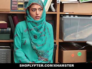 Shoplyfter - Hot Muslim Teen Caught & Harassed