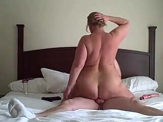 Ride to orgasm with chubby amateur milf