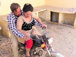 Sadaf aunty's sister hHumaira. Hot bike ride with new driver