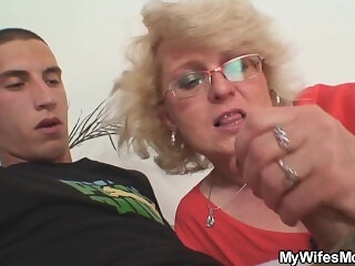 Cheating sex with blonde mature woman in law